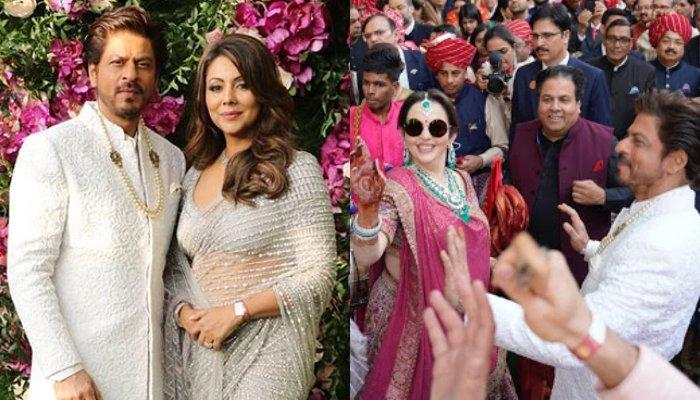 Shah Rukh Khan-Gauri Khan Look Elegant In White And Grey At Akash-Shloka's Wedding, Dance At Baraat