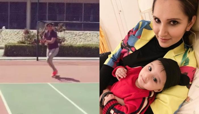 Sania Mirza Finally Gets Back To Tennis Court After The Birth Of Her Son, Izhaan Mirza Malik [Video]