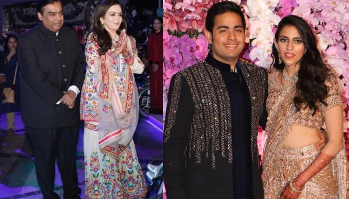 Nita Ambani And Mukesh Ambani Celebrate Their Son, Akash's Wedding With Protectors Of The Nation