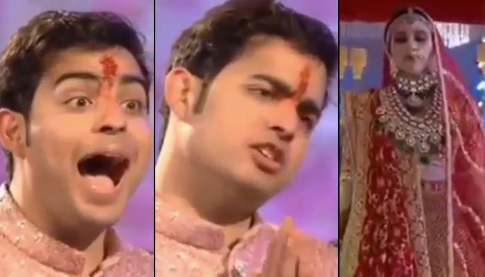 Akash Ambani's Reaction On Seeing Shloka Mehta Walking Down The Aisle As Bride Is Priceless [VIDEO]