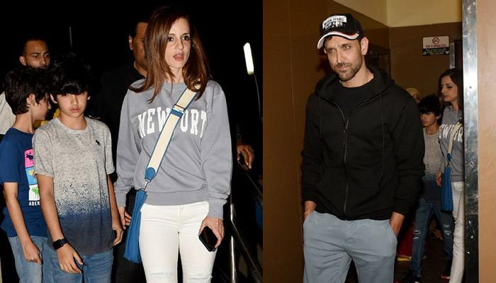 Hrithik Roshan And Sussanne Khan On Movie Date Along With Sons Hridhaan-Hrehaan, Pics Inside