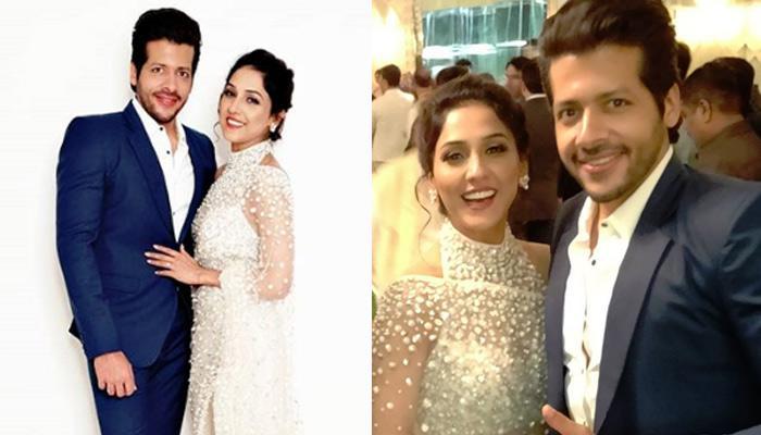 Neeti Mohan-Nihar Pandya's First Outing As Married Couple At Akash-Shloka's Reception [VIDEO]