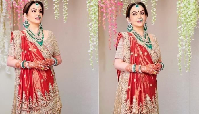 Nita Ambani Gives A Style Inspiration To All The Mothers With Her Abu Jani Sandeep Khosla Outfit