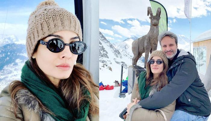 Raveena Tandon Is Fully Enjoying Vacation With Her Hubby Anil Thadani In Switzerland, Pics Inside