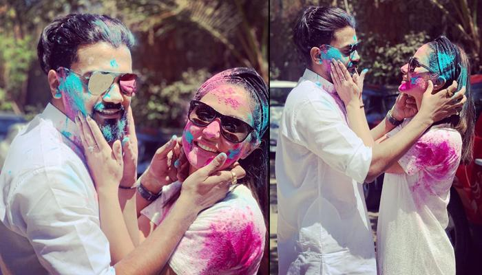 0de90d99f58a5 Hina Khan And Rocky Jaiswal Drenched In Each Other s Love On Holi Make Us  Sing  Mohe ...