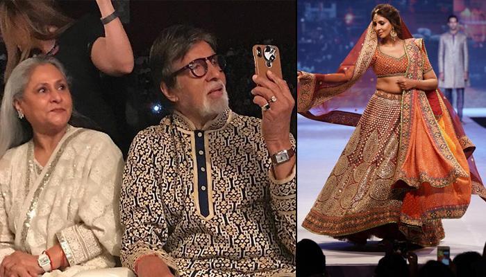 Shweta Bachchan Nanda's Proud Father Amitabh Bachchan Turns Paparazzi As She Walks The Ramp [VIDEO]