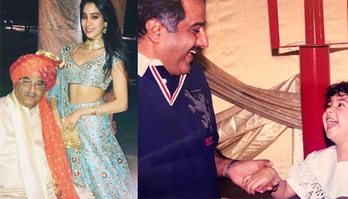Janhvi Kapoor And Boney Kapoor's Unseen Throwback Pic In Splits, Holding Hands Is Childhood Purity