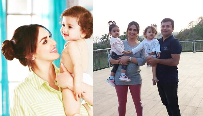 Esha Deol Flaunts Her Baby Bump During An Ad Commercial, Radhya Takhtani Joins Her On The Sets