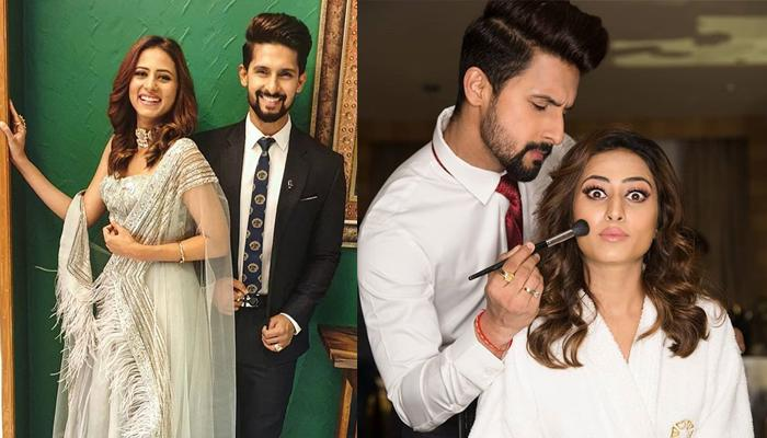 Ravi Dubey Turns Make-Up Artist For Sargun Mehta, Pics Reflect Love Of Every Cute Husband-Wife Ever