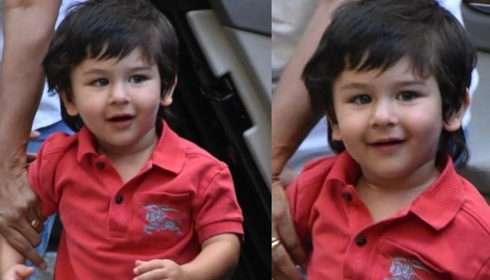 Taimur Ali Khan Brightens Up Our Wednesday With His Chubby Cheeks And Rosy Lips