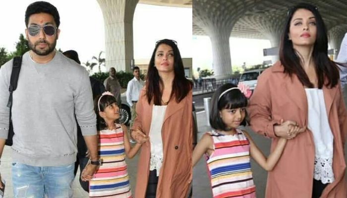 Aishwarya Rai Bachchan And Abhishek Bachchan Jet Out In Style With Their Daughter Aaradhya Bachchan