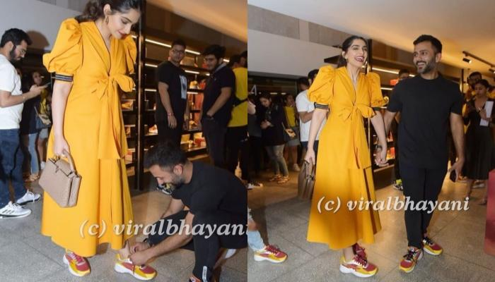 Sonam Kapoor's Hubby Anand Went Down On His Knees To Tie Her Shoelace On Recent Store Launch
