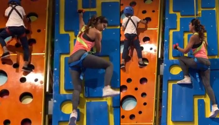 Shilpa Shetty Kundra Loses To Son, Viaan Raj Kundra In Indoor Rock Climbing, Relives Her Childhood