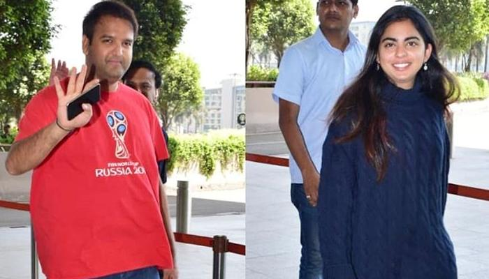 Isha Ambani Piramal And Anand Piramal Step Out In Casual Best, All Smiles For Cameras At The Airport