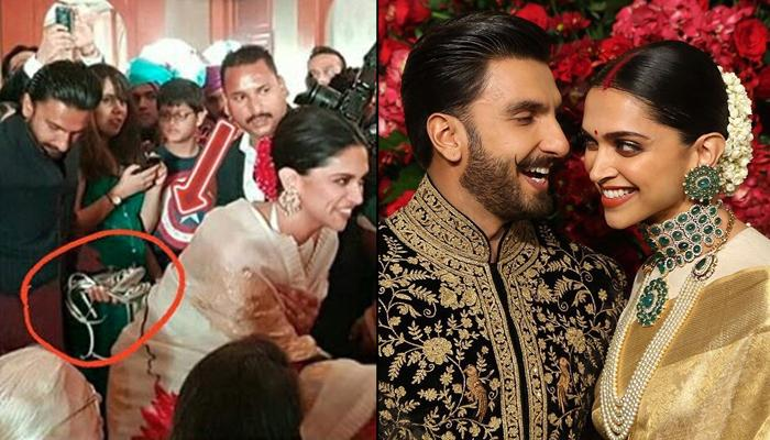 Ranveer Singh Holds Deepika Padukone's Heels And His Chivalry Makes Him 'Husband Of The Millennium'