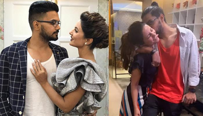 Hina Khan And Her Boyfriend, Rocky Jaiswal Can't Stop Kissing Each Other At A Family Birthday Bash