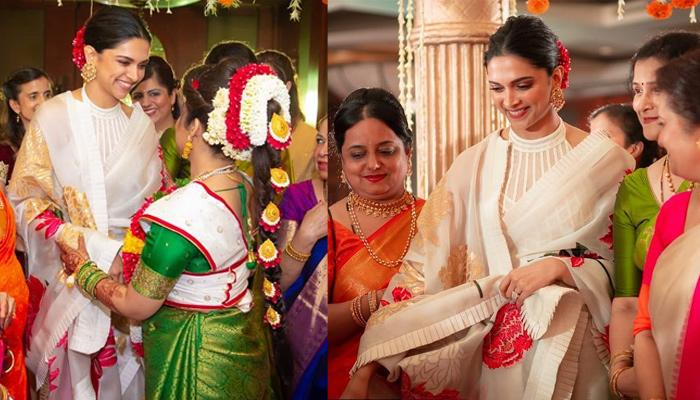 Deepika Padukone Performs A Wedding Ritual With Married Ladies On Her Cousin's Wedding [Pictures]