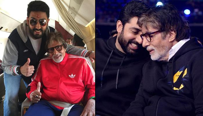 Abhishek Bachchan's Throwback Black-And-White Picture With Dad, Amitabh Bachchan Is An Archived Gem