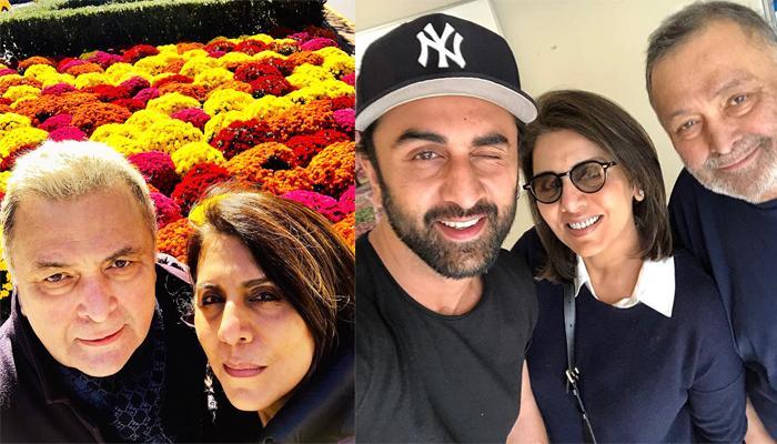 Neetu Kapoor Shares 'Amazing Feeling In Lows' Selfie With Rishi Kapoor And Ranbir Kapoor