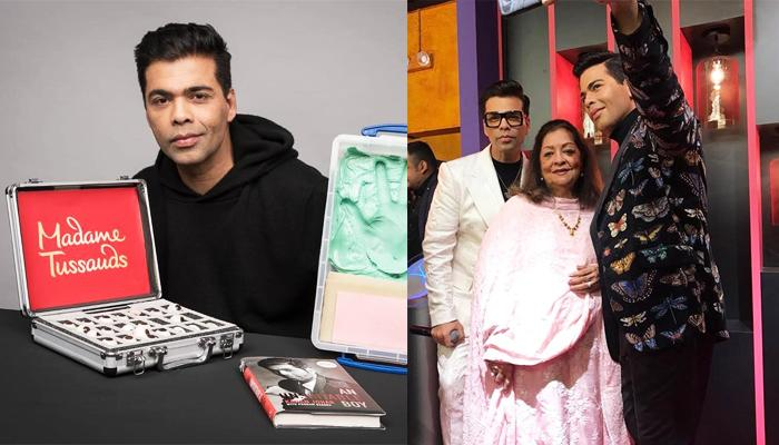 Karan Johar Unveils His Wax Statue At Madame Tussauds, Singapore With Mom, Hiroo Johar