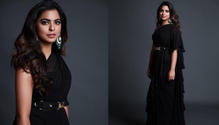 Isha Ambani Piramal Redefines 'Six-Yard-Piece-Of-Elegance' In Sabyasachi Mukherjee's Frilled Saree