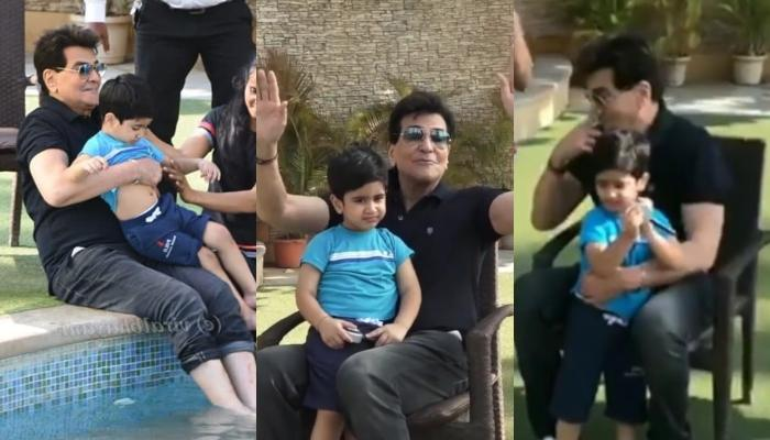 Jeetendra And Grandson, Laksshay Kapoor Go For A Swimming Session, Pictures And Videos Inside