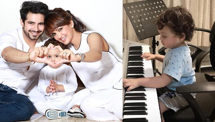 Karan Mehra's 22-Month-Old Son, Kavish Is The 'Superstar-In-The-Making', Plays Keyboard With Mommy