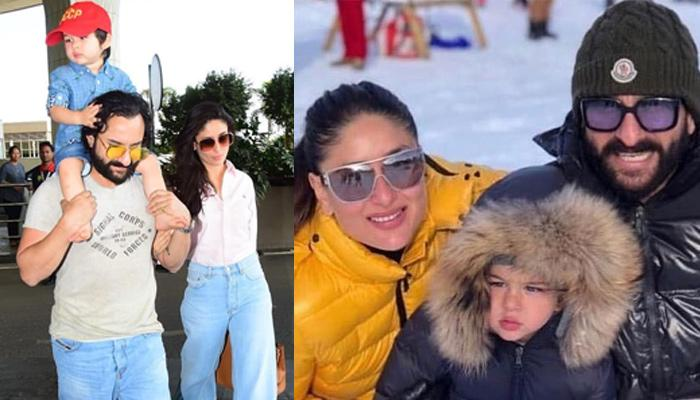 Taimur Ali Khan Rides On Saif Ali Khan's Back As They Leave For Pataudi Palace, Kareena Looks Lovely