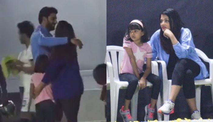 Aaradhya Bachchan Runs To Dad, Abhishek Bachchan Post Football Match, Wife Aishwarya Gets A Warm Hug