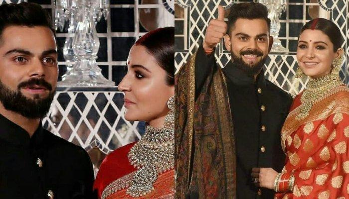 Unseen Picture Of Anushka Sharma And Virat Kohli Dancing Crazily Together At Their Delhi Reception