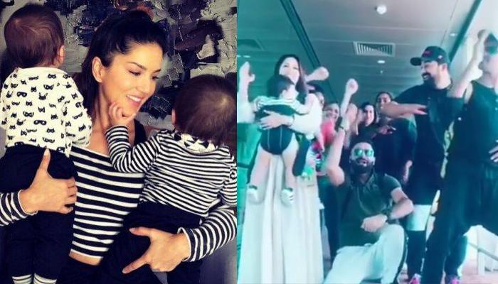 Sunny Leone Takes Twin Boys, Asher And Noah For Shooting Of Splitsvilla 12, Team Dances With Them