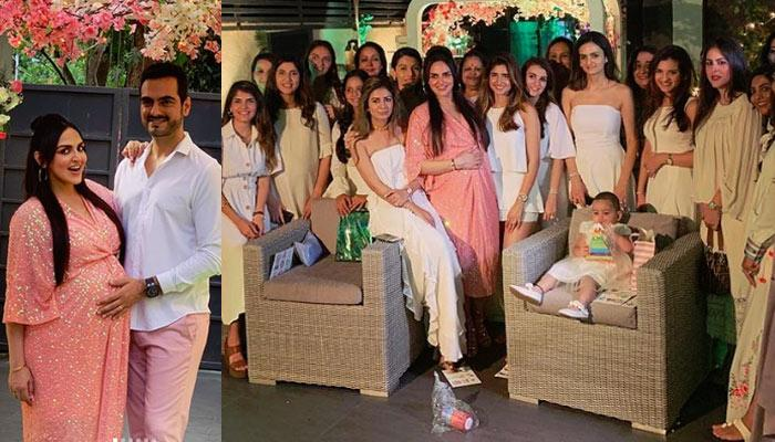 Esha Deol's Pregnancy Glow In Pink Maxi Dress On Her Baby Shower Is Quite Evident, Pictures Inside