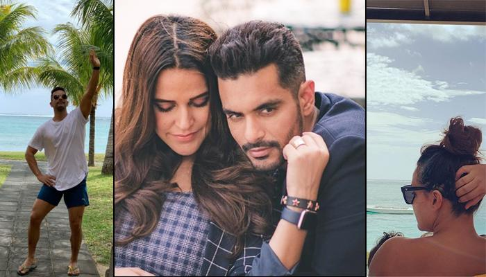 Neha Dhupia Enjoys Her 'Twosday' In Mauritius, To Ring In Wedding Anniversary With Angad Bedi There