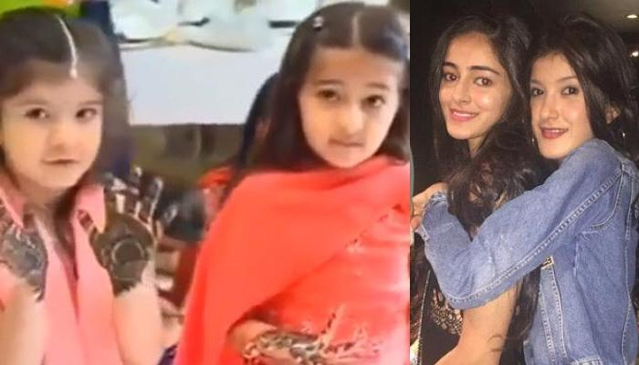 Throwback Video Of Baby Ananya Panday And Shanaya Kapoor Looking Adorable In Mehendi-Adorned Hands