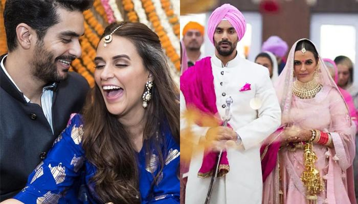 Neha Dhupia Shares Her Unseen Wedding Trailer, Wishes Husband Angad Bedi On Their First Anniversary
