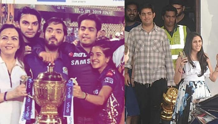 Shloka Mehta-Akash Ambani, Anant Ambani-Radhika Merchant Bring The IPL Trophy Home After MI's Win