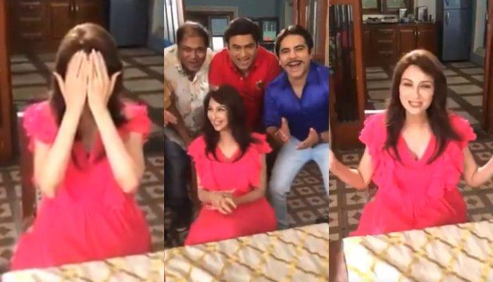 Saumya Tandon Greeted With 'Gali Mein Aaj Chand Nikla' By Team After Returning On Set Post Delivery