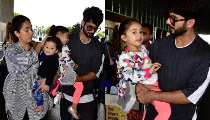 Shahid Kapoor's First Appearance With Misha-Zain Together As They Leave For Singapore (Pics Inside)