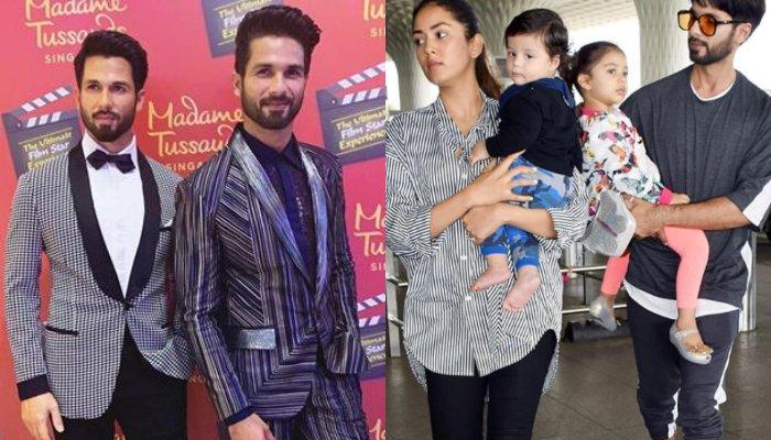 First Picture Of Mira Rajput Kapoor With Her Hubby, Shahid Kapoor's Wax Statue At Madame Tussauds