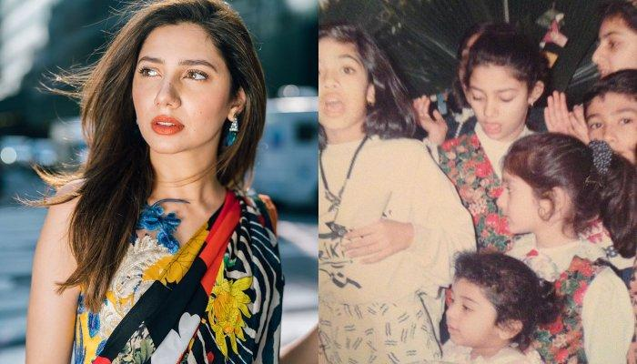 Throwback Picture Of Mahira Khan Dressed As A Bride Donned In Red, Trying Her Mom's Matha-Patti
