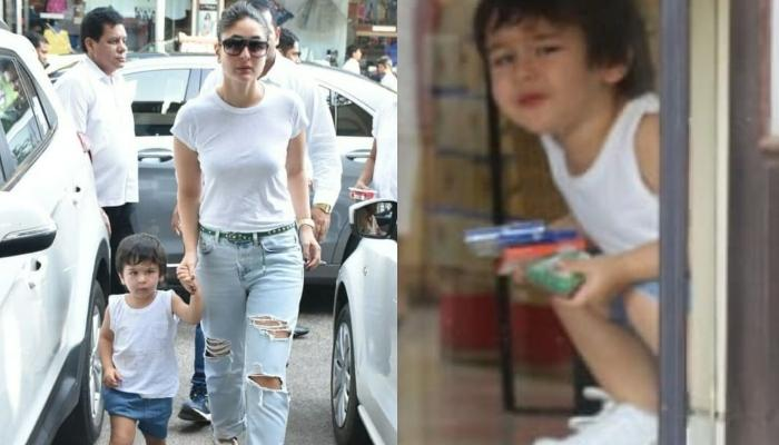 Taimur Ali Khan Plays Peek-A-Boo Through Window With His Paparazzi Friends  [VIDEO INSIDE]