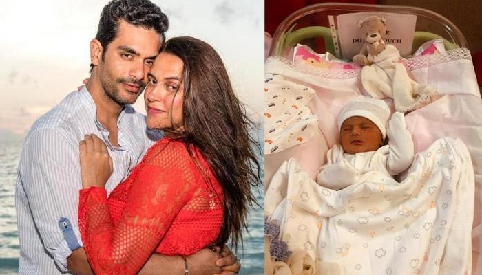 Neha Dhupia Shares First Family Pic With Mehr Dhupia Bedi And Angad Bedi As She Turns 6-Month-Old