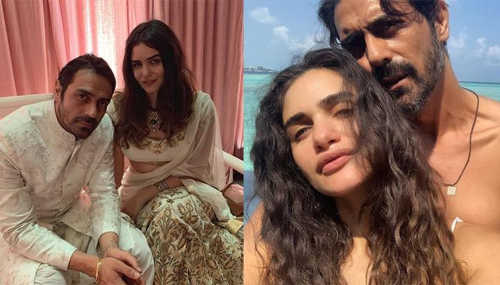 Arjun Rampal and pregnant girlfriend Gabriella Demetriades are burning up Maldives.