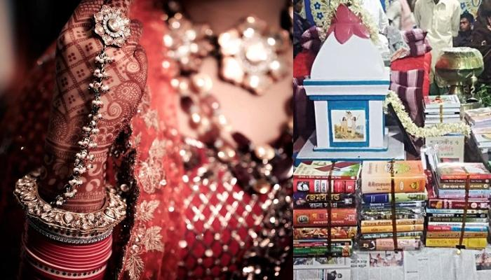 This Bride's Family Gave The Most Amazing Dowry Of 1000 Books Worth Rs. 1 Lakh To Groom
