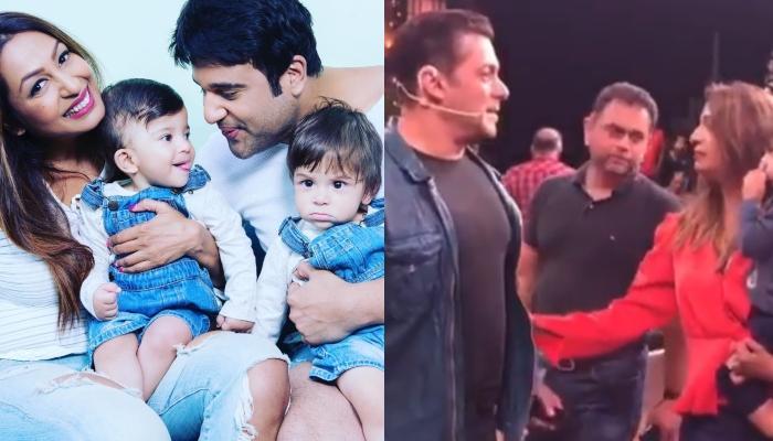Krushna Abhishek And Kashmera's Twins Finally Meet Their Favourite Hero, Salman Khan
