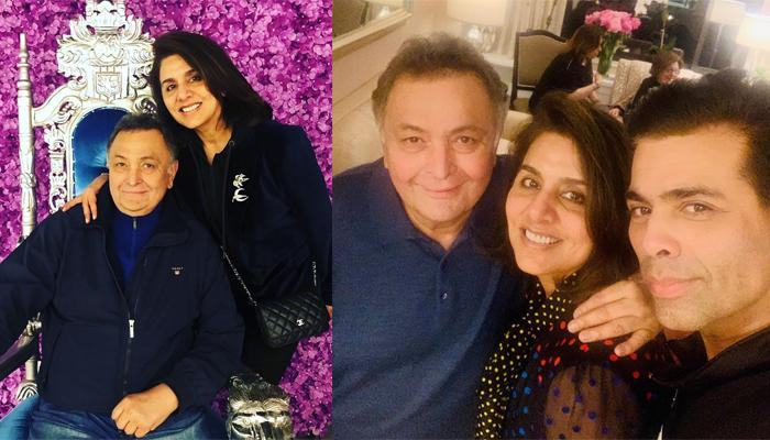 Karan Johar Gives The 'Tightest Hug And Longest Kiss' To Rishi Kapoor And Neetu Kapoor In New York