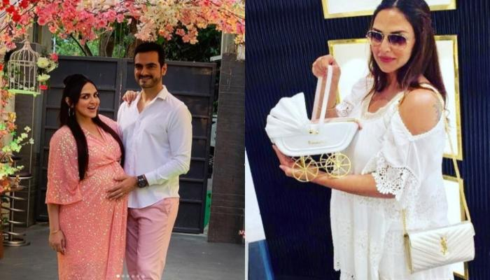 Esha Deol Flaunts Her Baby Bump In The Third Trimester, Beats The Heat Like A Pro (Pic Inside)