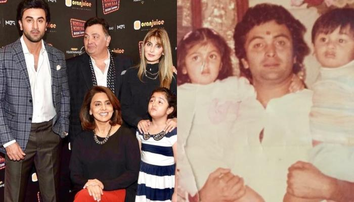 Ranbir Kapoor's Sister, Riddhima Shares A Childhood Picture With Him And Daddy, Rishi Kapoor