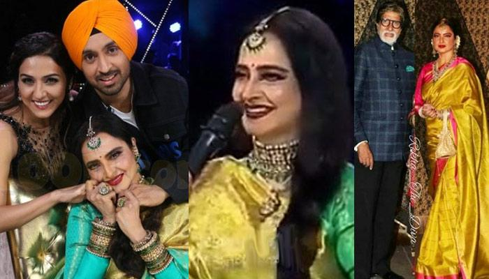 Rekha Couldn't Stop Blushing When A Contestant Introduced Himself As Amitabh Bachchan [VIDEO]