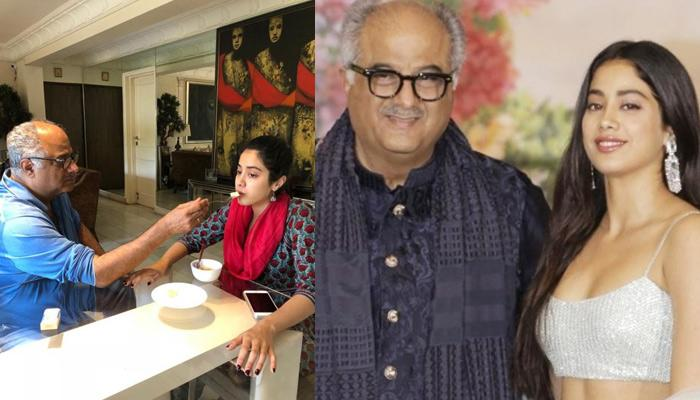 Janhvi Kapoor Is Proud Of Dad Boney Kapoor As He Has Lost 12 Kilos In Few Months, Picture Inside